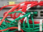 Gigabit switch with patch cables - detail